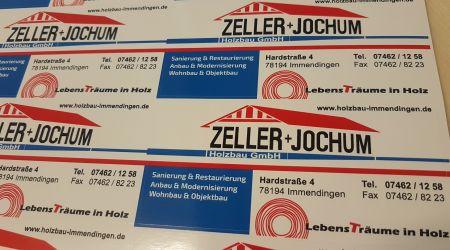 Aufkleber Zeller&Jochum Holzbau GmbH